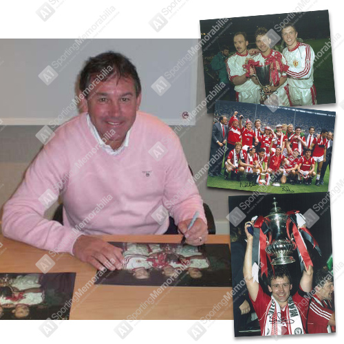 Bryan Robson signed photos