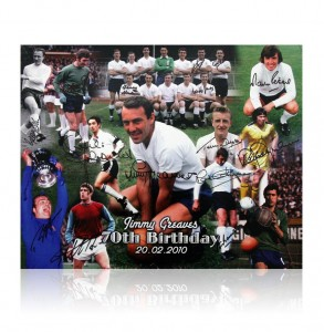 Jimmy Greaves 70th Birthday signed montage print