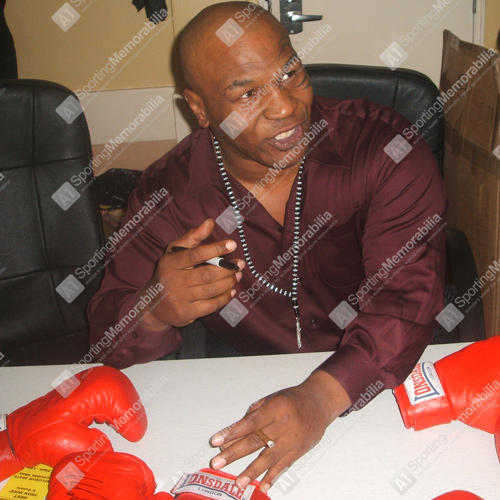 Mike Tyson Signing Boxing Memorabilia for A1 Sporting Memorabilia