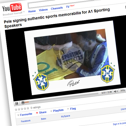 A1 Sporting Memorabilia on YouTube