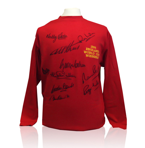 1966 World Cup Shirt - Signed by 10 of the players