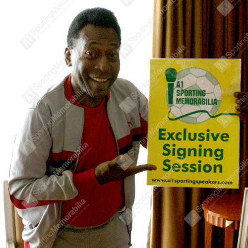 A1 Sporting Memorabilia exclusive signing session with Pele