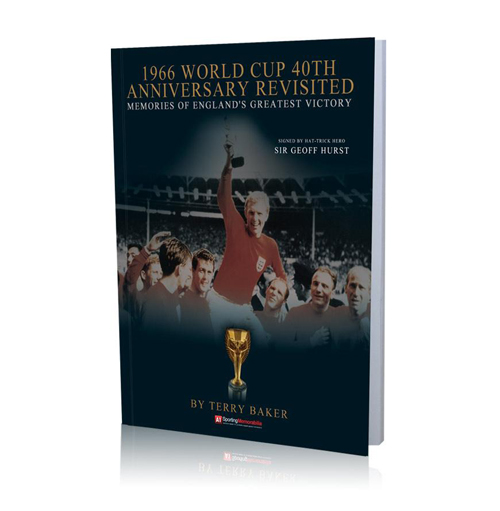 1966 World Cup 40th Anniversary Revisited Book - Signed by Sir Geoff Hurst