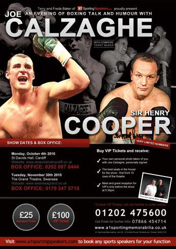 An Evening with Joe Calzaghe and Sir Henry Cooper