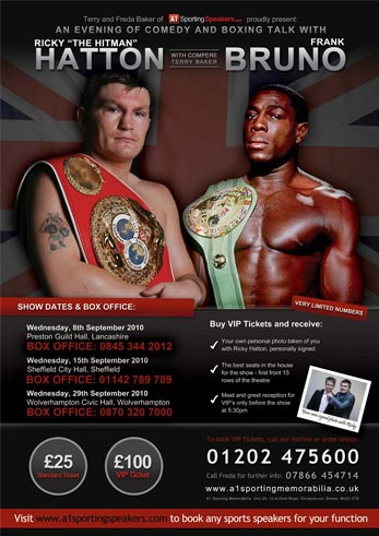 An Evening with Ricky Hatton & Frank Bruno