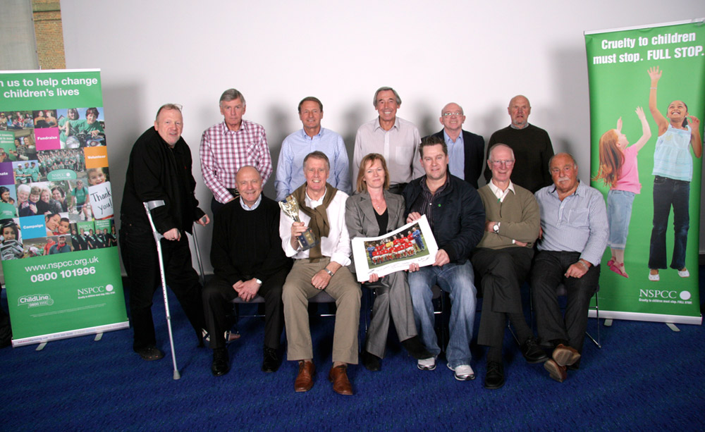 Terry & Freda Baker with the England 1966 World Cup Wining Team & representative from the NSPCC
