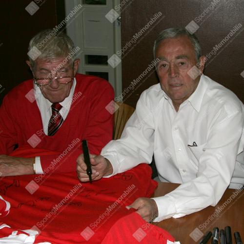 Ian St John Signing Liverpool 1965 FA Cup Shirt
