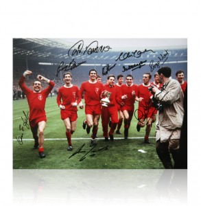 Liverpool 1965 FA Cup Autographed Photo