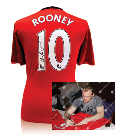 Wayne Rooney Signed Manchester United Shirt