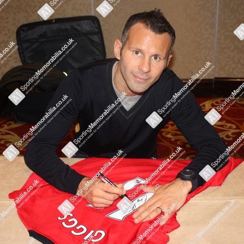 Manchester United legend Ryan Giggs signing shirt