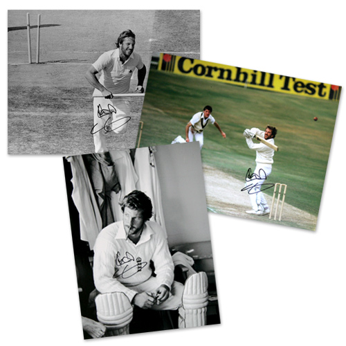 Sir Ian Botham signed cricket photos