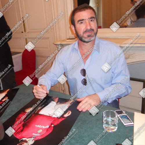 Eric Cantona signing Manchester United photo