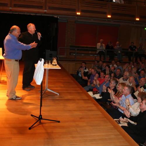 Jimmy Greaves & Terry Baker live on stage