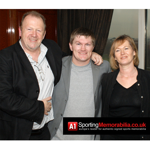 A1 Sporting Memorabilia Directors Terry & Freda Baker with Ricky Hatton