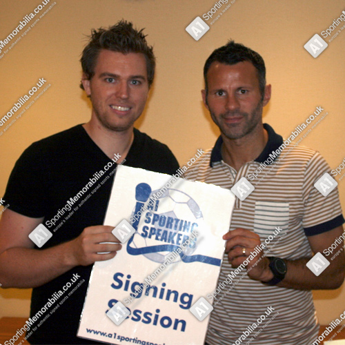 Ryan Giggs at the exclusive signing session for A1 Sporting Memorabilia