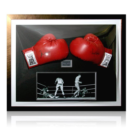Muhammad Ali & Henry Cooper Signed Boxing Gloves
