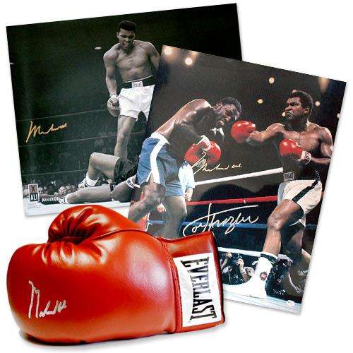 Muhammad Ali Signed Boxing Memorabilia