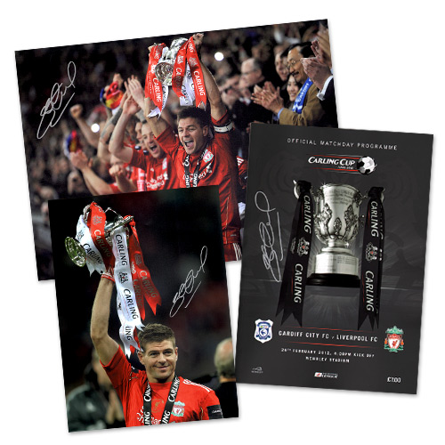 Steven Gerrard Signed Football Memorabilia