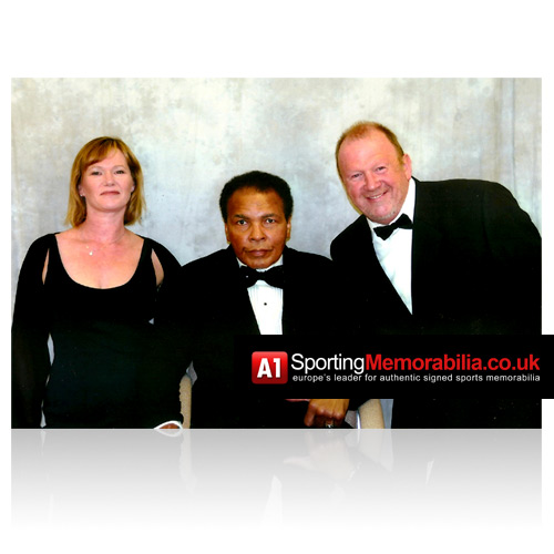 Terry and Freda Baker with Muhammad Ali