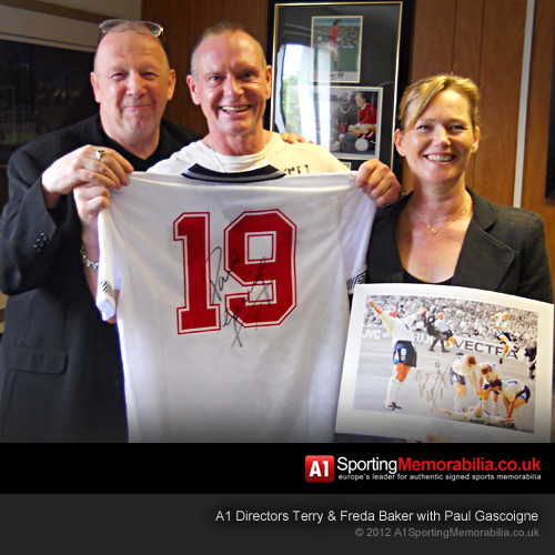 Terry & Freda Baker with Paul Gascoigne