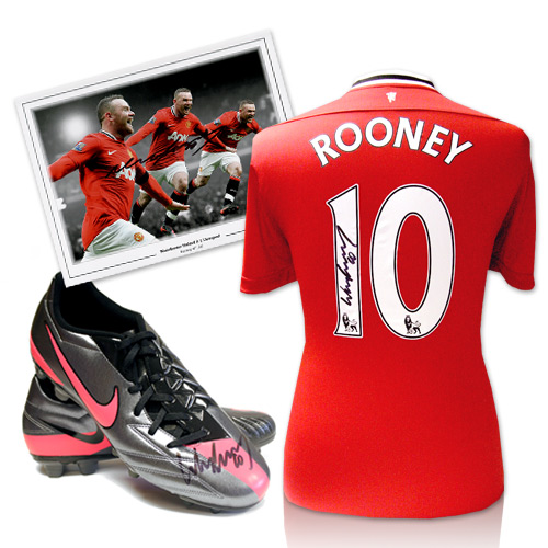 Wayne Rooney Signed Football Memorabilia