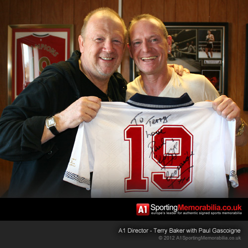 Terry Baker with Paul Gascoigne