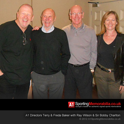 Terry& Freda Baker with Ray Wilson & Sir Bobby Charlton