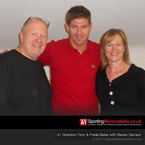 Terry & Freda Baker with Steven Gerrard