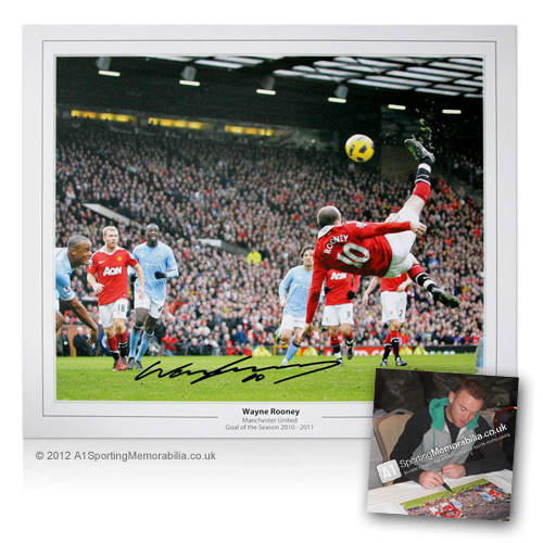 Wayne Rooney Goal of the Season - Hand Signed Autograph by Wayne Rooney