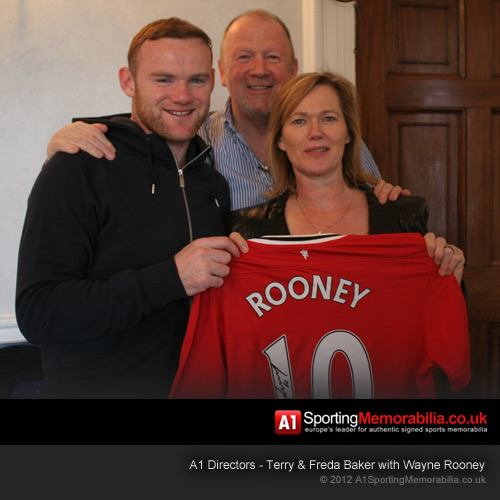 Terry & Freda Baker with Wayne Rooney