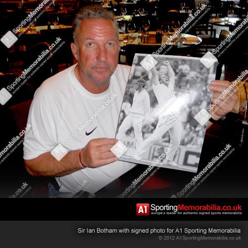 Sir Ian Botham signed photo for A1 Sporting Memorabilia