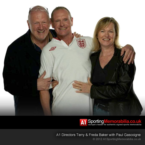A1 Directors Terry & Freda Baker with Paul Gascoigne