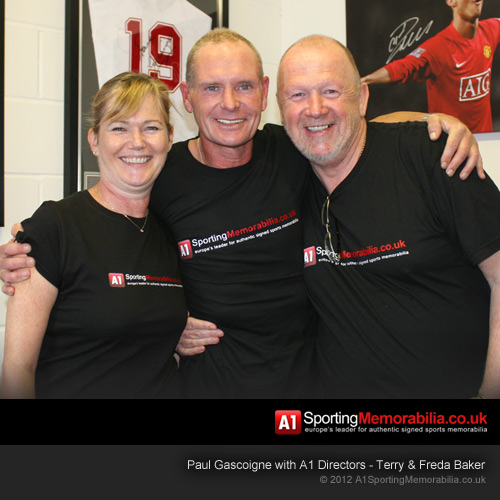 Paul Gascoigne with Terry & Freda Baker