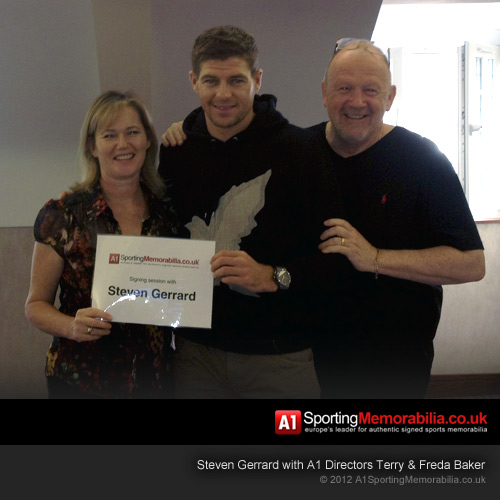 Terry & Freda Baker with Steven Gerrard