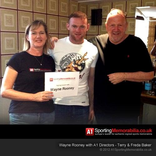 Wayne Rooney with A1 Directors - Terry & Freda Baker