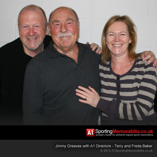 Jimmy Greaves with A1 Directors - Terry and Freda Baker
