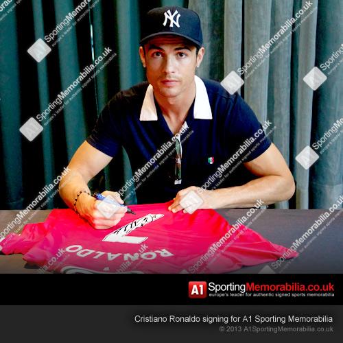 Cristiano Ronaldo Signing Manchester United Shirt