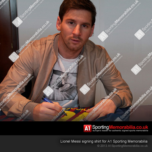 Lionel Messi Signing Shirt