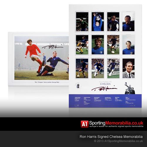 Ron Harris Signed Chelsea Memorabilia