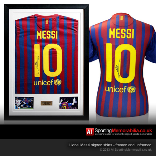 Lionel Messi Signed Barcelona Shirts