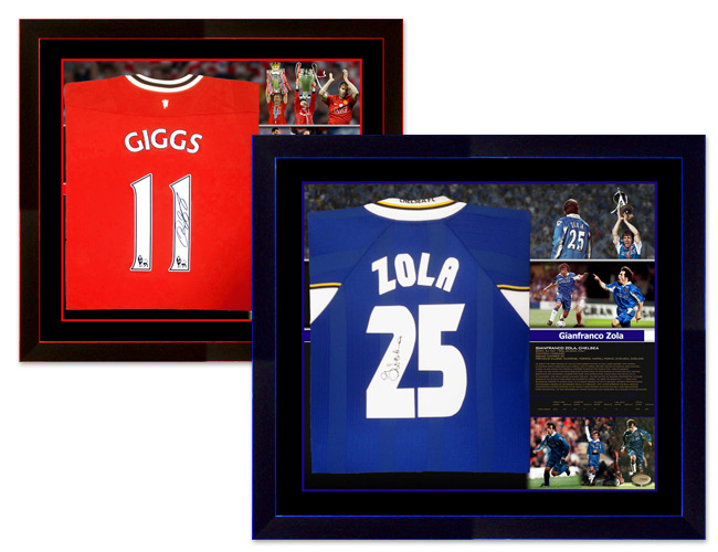 A1 Sporting Memorabilia Exclusive Limited Edition Framed Football Shirts