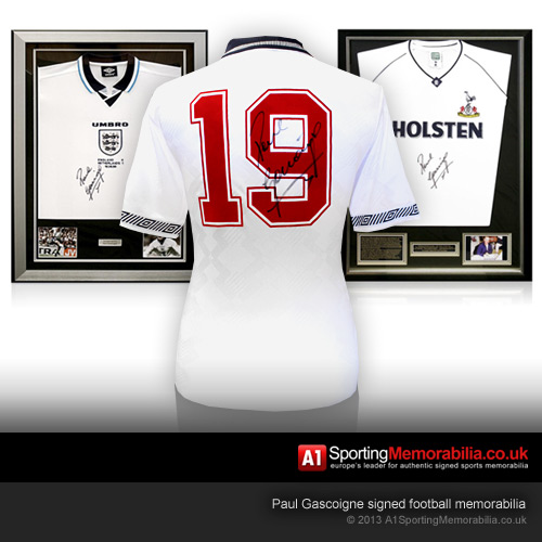 Paul Gascoigne signed football memorabilia