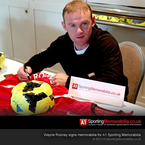 Wayne Rooney Signing Sports Memorabilia