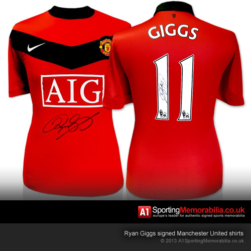 Ryan Giggs Signed Manchester United Shirts
