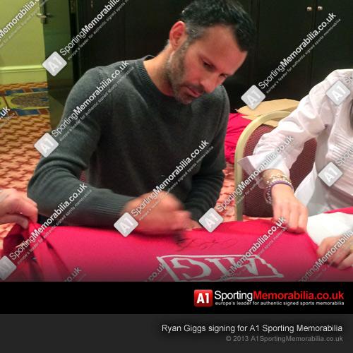 Ryan Giggs Signing Memorabilia for A1 Sporting Memorabilia