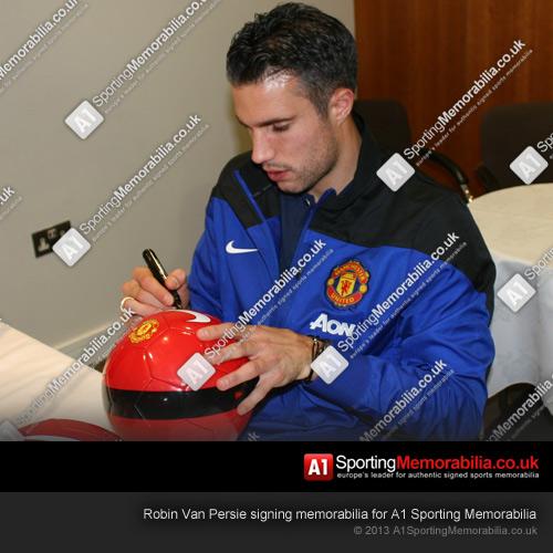 Robin Van Persie Signing For A1 Sporting Memorabilia