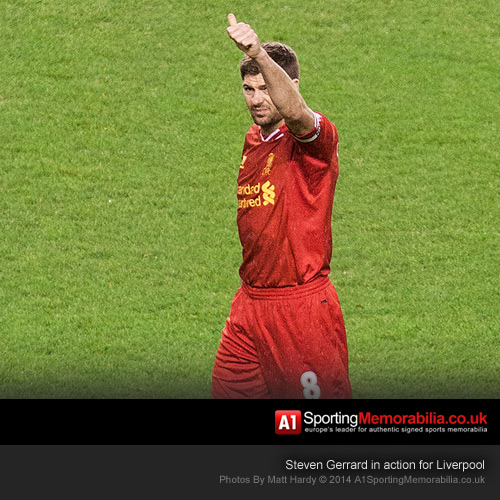 Steven Gerrard in action for Liverpool - Photo by Matt Hardy