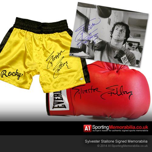 Sylvester Stallone Signed Memorabilia