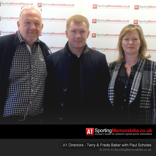 A1 Directors - Terry & Freda Baker with Paul Scholes