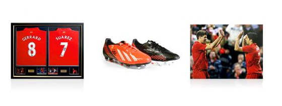 Liverpool Memorabilia Signed By Gerrard & Suarez